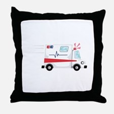 Fast Ambulance Throw Pillow