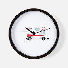 Fast Ambulance Wall Clock