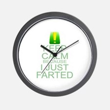 Keep Calm I Farted Wall Clock