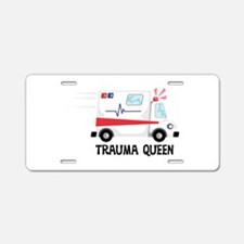 Trauma Queen Aluminum License Plate