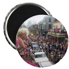 Mardi gras Party on Bourbon Street Magnet