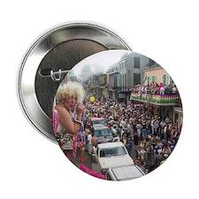 """Mardi gras Party on Bourbon Street 2.25"""" Button"""