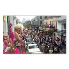 Mardi gras Party on Bourbon St Decal
