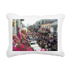 Mardi gras Party on Bour Rectangular Canvas Pillow