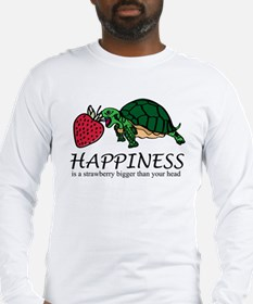 Happiness is (turtle/strawberry) Long Sleeve T-Shi