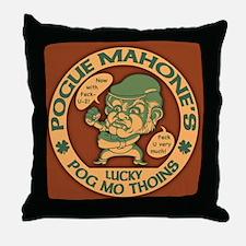Pogue's Lucky Thoins Throw Pillow