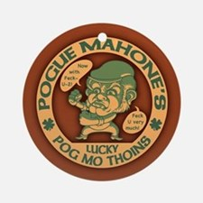 Pogue's Lucky Thoins Ornament (Round)