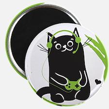 Gamer Cat Magnets