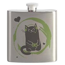 Gamer Cat Flask