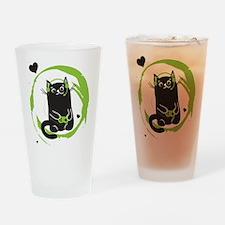 Gamer Cat Drinking Glass