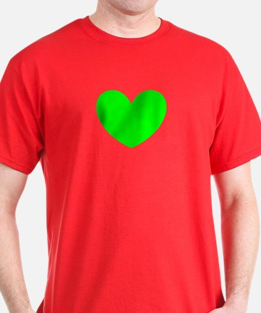 Passionate Green Heart St. Patricks Day 7147 T-Shi