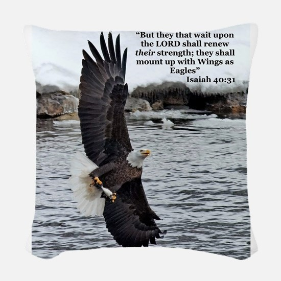 Wide Winged Wonder Woven Throw Pillow