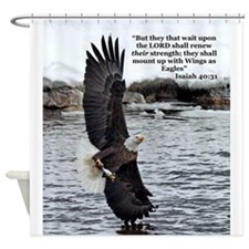 Wide Winged Wonder Shower Curtain