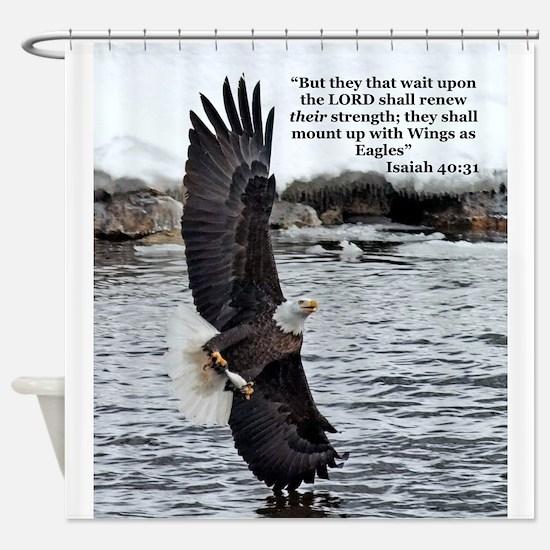 Wide Winged Wonder Shower Curtain