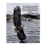Bald eagle Fleece Blankets