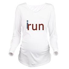 iRun Long Sleeve Maternity T-Shirt