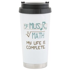 Math and Music Travel Mug