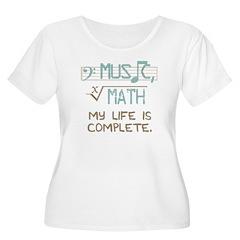 Math and Music Plus Size T-Shirt