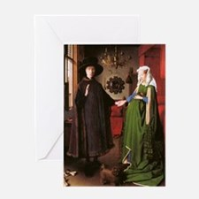 Portrait of Giovanni Arnolfini and h Greeting Card