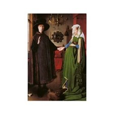 Portrait of Giovanni Arnolfini an Rectangle Magnet