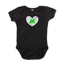 Heart Green Clover Passionate 714 Baby Bodysuit