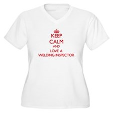 Keep Calm and Love a Welding Inspector Plus Size T