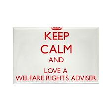 Keep Calm and Love a Welfare Rights Adviser Magnet