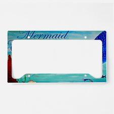 Mermaid Crossing License Plate Holder