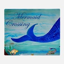 Mermaid Crossing Throw Blanket