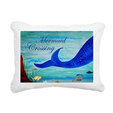 Mermaid Crossing Rectangular Canvas Pillow