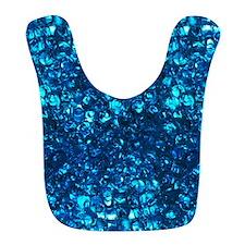 Blue Liquid Pearls Bib