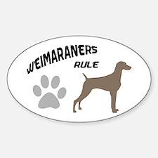 Weimaraners Rule Oval Decal
