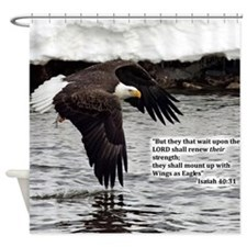 Wings of Eagles with Isaiah 40:31 Shower Curtain