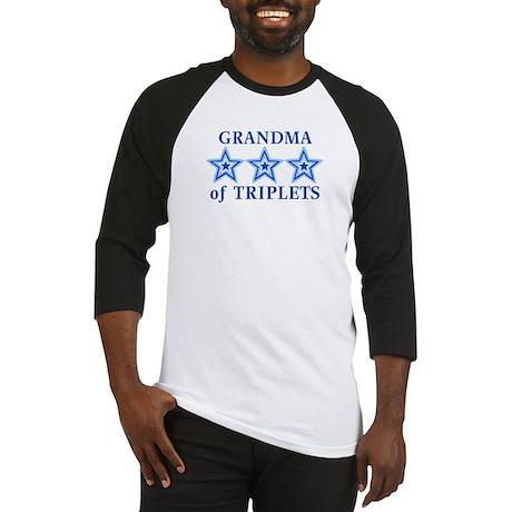 Grandma of Triplets (Boys) Stars Baseball Jersey