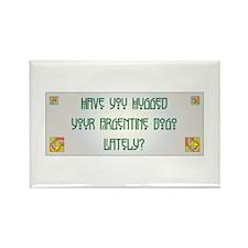 Hugged Dogo Rectangle Magnet (100 pack)