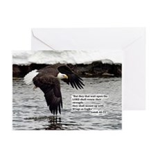 Wings of Eagles with Isaiah 40:31 Greeting Cards