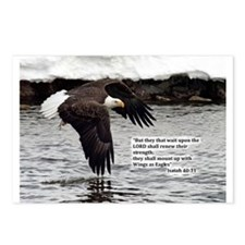 Wings of Eagles with Isaiah 40:31 Postcards (Packa
