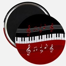 Stylish Piano keys and musical notes Magnets
