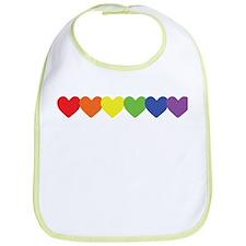 Rainbow Hearts Row Bib