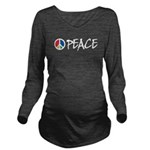 peace_st.png Long Sleeve Maternity T-Shirt