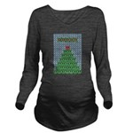 peace_xmas_tree.png Long Sleeve Maternity T-Shirt