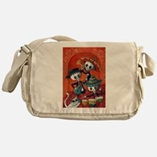 Mexican skeleton musicians Messenger Bag