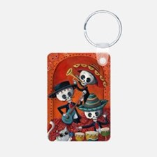 Mexican skeleton musicians Keychains
