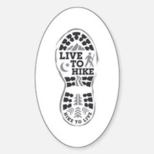 Live To Hike Sticker (Oval)