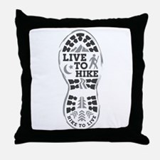Live To Hike Throw Pillow