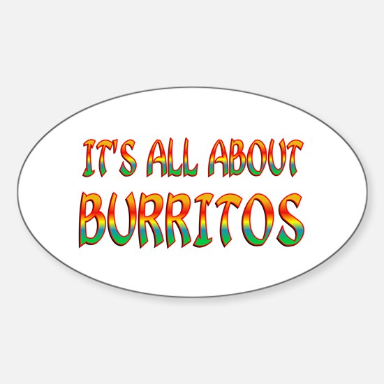 All About Burritos Sticker (Oval)