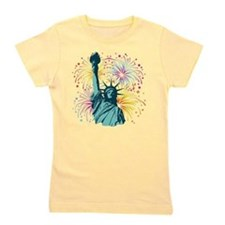 Cute Statue of liberty Girl's Tee
