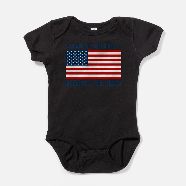 Land of the Free Flag Baby Bodysuit