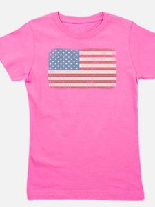 Vintage American Flag Girl's Tee