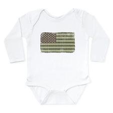 Camo American Flag [Vintage] Onesie Romper Suit